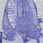 Self-portrait in Blue