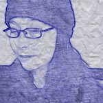 Self-Portrait in Blue 2
